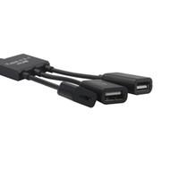 Câble de type C 3 en 1 USB C Câble hôte OTG Hub Adaptateur Connecteur Splitter Accessoires pour ordinateurs portables haut débit Port répartiteur USB