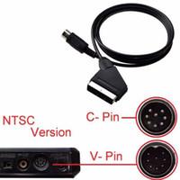 Cavo Scart V-pin 1.8m per Sega Megadrive 1 Sistema Genesis 1 Master 1 Cavo AV Scart RGB Cavo in piombo DHL FEDEX EMS SPEDIZIONE GRATUITA