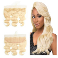 "613 Blonde Ear To Ear Full Lace Frontal Closure 13x4"" B..."