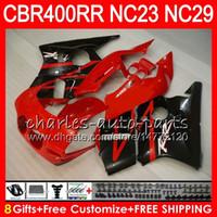 Kit voor HONDA CBR400 RR NC23 CBR400RR 88 89 90 91 92 93 80HM14 CBR 400 RR NC29 CBR 400RR Hot Koop Rood 1988 1989 1990 1991 1992 1993 Kuip