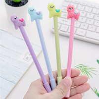 Kawaii Alpaca Gel Ink Pen Candy Color Cute Cartoon Lovely Hairy Sheep 0.38mm Black Writing Pens School Office Student Kids Gift