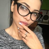 93fc1e07c7586 2018 Preto Clássico Olho de Gato Armações de Óculos Ópticos Mulheres Óculos  Transparentes Moldura Unisex Ultra Leve Quadro Lente Clara Óculos