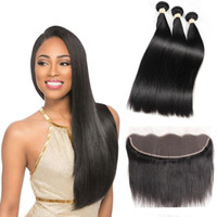 Human Hair Bundle With Lace Frontal 8A Brazilian Virgin Hair...