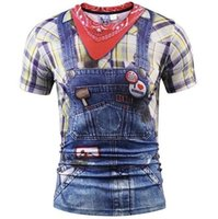 Melhores Camisas 3D T Para Homens Moda 3D T-shirt Dos Homens / mulheres Tops de Verão Impressão Camisas Xadrez Falsa Camisa de T Camisa de T Camisas Elegantes