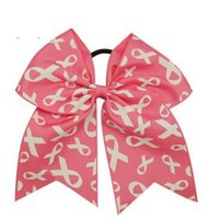 Elegant sales new Patchwork Cheer Bows Breast Cancer Awarene...