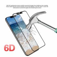 6D gebogene gehärtetem glas für iphone 8 7 6 6 s volle abdeckung displayschutzfolie für iphone x 10 7 8 6 6 s plus