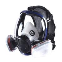 كامل الوجه الغبار قناع الغاز جودة عالية قطعة واحدة كامل الوجه التنفس قناع رذاذ الطلاء الدخان التوليف قناع وقائي يقبل 3M مرشحات