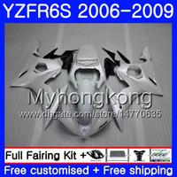 Cuerpo para YAMAHA YZF R6 S R 6S YZF600 YZFR6S 06 07 08 09 231HM.22 YZF-600 YZF R6S YZF-R6S Blanco perlado brillante 2006 2007 2007 2009 Fairings Kit