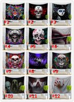 Skull tapestry 28 design bar decoration wall hanging fresco ...