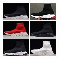 2017 Speed stretch- knit Mid Sneakers Running Shoes Black Men...