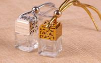 2018 Самые дешевые Серебро Золото высокого качества Куб Духи Диффузор Флакон автомобилей висячие стеклянная бутылка 5мл 100Pcs Бесплатная доставка