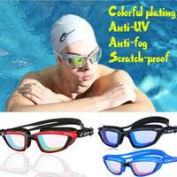 المرأة السيليكا جل إطار كبير ملون الطلاء المضادة للضباب نظارات السباحة المضادة للأشعة فوق البنفسجية زجاج الرجال في مقاومة للخدش عدسة قابل للتعديل نظارات