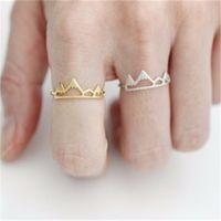 Nueva llegada montaña del anillo de plata ajustable anillos de oro de la moda linda dedo de la joyería para las mujeres 3 colores