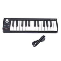 Высокое качество 25 клавиш MIDI клавиатура Портативный Velocity-чувствительный MIDI контроллер клавиатуры Mini Прочный 25-Key USB