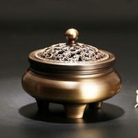 Antike Nachahmung Kupfer Weihrauch Brenner Mini Chinesische Räuchergefäß Metall Handwerk Tee Zeremonie Home Decor Kostenloser Versand ZA5835