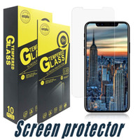 Protetor de tela de vidro temperado 2.5D para iphone 12 11 pro máximo xr 8 7 6s mais samsung j3 j6 pro j7 j6 j6 plus primo 2017 2018 lg stylo 4 3