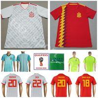 cf900adb3 World Cup 2018 Spain Men Home Away Soccer Jersey 20 ASENSIO 7 RAUL 11 PEDRO  14 ALONSO 9 RODRIGO Football Shirt Kits Make Custom Red 8 KOKE