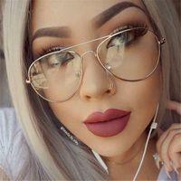 طيار النظارات إطارات النظارات خمر النظارات النساء نظارات إطارات النظارات النظارات الإطار الإناث عادي الصف