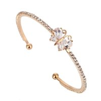 ZOSHI OL Style Cubic Zirconia butterfly Fashion Golden Plated Charm Bracelets & Bangles Crystal Jewelry Gift For Women Jewelry