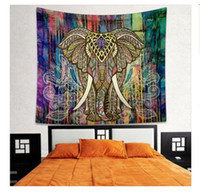 Mandala Tapestry Bohemian Elephant Tapestry Wall Hanging Psichedelico Wall Art Dorm Decor Beach Throw Wall Arazzi 68 Stili 150 * 130 cm