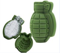 3D Grenade Shape Ice Cube Mold Ice Cream Maker Party Drinks ...