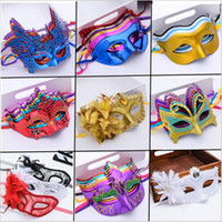 Sexy Promotion Selling Party Mask With Gold Glitter Mask Ven...