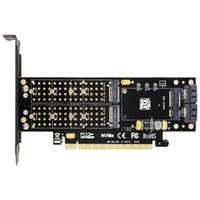 محول SK16 M.2 NVMe SSD NGFF TO PCI-E3.0 X16 M مفتاح B مفتاح mSATA بطاقة واجهة Suppor بي سي اي اكسبريس 3.0 3 في 1 المزدوج 12V + 3.3V