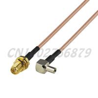 0.7 ft 20 см РФ SMA Джек переборка TS9 штекер прямоугольный RG316 косички кабель антенный Фидер ассамблеи беспроводной инфраструктуры