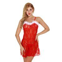 Translucent Sexy Sling camisón Mujer Ropa de noche Vestido de noche Ropa interior de mujer
