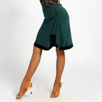 2018 الرقص اللاتينية تنورة للمرأة أنثى سيدة مثير ازياء قاعة رقص رومبا تشا تشا سامبا الرقص تنورة الممارسة ملابس DN1500