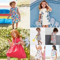 9 Stil neue Ankunft Little Maven Mädchen Kinder 100% Baumwolle Kurzarm Cartoon Tiere Blumen Kleid kausalen Sommer Mädchen Kleider