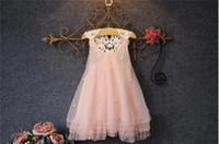 Détail bébé fille dentelle tulle princesse robe enfants perlée dentelle gaze robes filles sans manches gilet robe jolis enfants dentelle net fil jupe