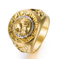 Gold Colors Classic Men' s Style Punk Hip Hop Ring Cool ...