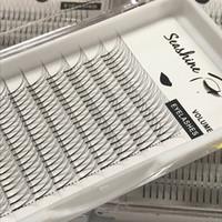 Seashine 3D D завиток 5 Шт. / Лот Корея Синтетические Волосы Длинный Корень Искусственной Норки Pre Made Fanned Наращивание ресниц Для Женщин Бесплатная Доставка