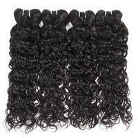 10a البرازيلي العذراء الشعر موجة المياه 4 حزم غير المجهزة موجة الطبيعية شعر الإنسان بيرو تسريحات الشعر الماليزي الهندي