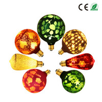 E27 B22 Base Classical LED Edison bulb Colorful Pattern Retr...