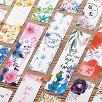30pcs signets de fleur de papier pour les livres papier page marqueur carte de mémo papeterie fournitures scolaires de bureau separador de libros A6476