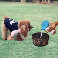 Foldable dog water bowl Camouflage food storage bag pet snac...