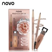 NOVO New Eyebrow Pencil 4 Colors Makeup Set With 3pcs Refill...