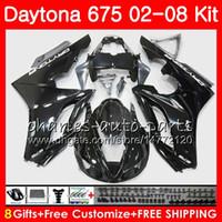 Kit para Triumph Daytona 675 2002 2003 2004 2005 2006 2007 2008 Cuerpo 04HM.70 Daytona675 Daytona 675 02 03 04 05 06 07 08 Stock negro Fairing