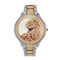 Casual Watch Women Rhinestone Gold Ladies Pink Watches Quart...