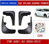 4pcs / set voiture Bavettes garde-boue BOUE Garde-boue Fender pour AUDI A3 SPORTBACK BERLINE 2004-2012