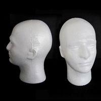 54 cm Çevresi Erkekler için PVC Manken Mankeni Başkanı Modeli Kap Peruk Şapka Ekran