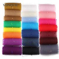 Wiele kolorów Mix DotCtage Veils 25 cm Szerokość Make Nowożeńcy DIY Akcesoria Do Włosów Ślubne Weils Materiał Materiał Drogi Netting Party Fascynator