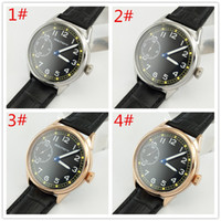 Goutent Sterile 42mm Black Dial Stainless Steel Case Leather...