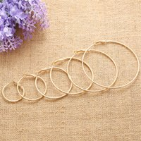 2018 Hot Sell Fashion Heart Circle Big Hoop Earring Round Ci...