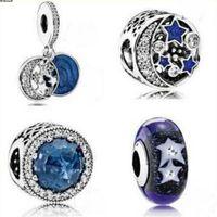 Schmuckarmband 925 Sterling Silber Perlen DIY Armband Blaue Perlen Klassische heiße Mode frei von Versand
