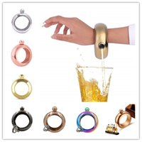 Bracelet Bracelet Hip Flask 3.5 oz 304 acier inoxydable arc-en-ciel alcool liquide vodka whisky drinkware entonnoir hanches flasques