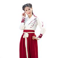 Vestuário de palco 2021 Chinês Folk Dance Roupas Hanfu para Mulheres Traje Nacional Vestido Fada Dinastia Tang Costumes Antigos