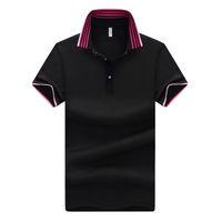 Algodão Camisa Dos Homens Fresco Verão Listrado Em Gola Mangas Curtas Camisa Homme Top